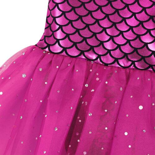 Kid Girl Lace Ballet Dance Leotard Dress Tutu Skirt Dancewear Gymnastics Costume