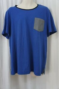 Kenneth-Cole-Reaction-Mens-Casual-Shirt-Sz-XXL-Core-Blue-Cotton-Blend-Shirt