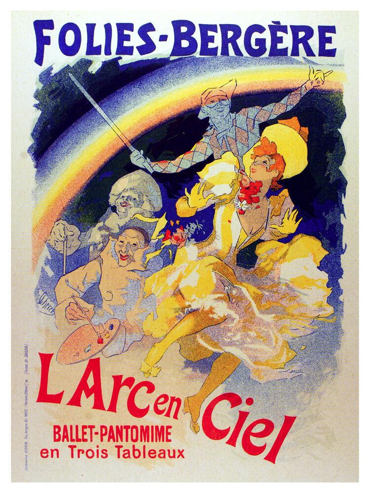 El Arc en Ciel Folies Vintage POSTER.Graphic Design. Wall Art Decoration.3235