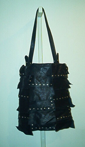 Tote Bulga625 Hamilton Studded Black Leather Flap hQrstdCx