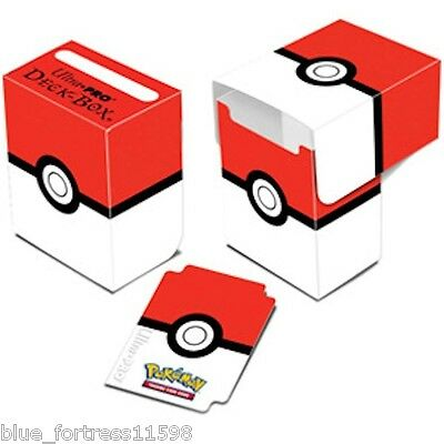 POKEMON POKEBALL RED WHITE ULTRA PRO DECK BOX CARD BOX FOR POKEMON CARDS V3 2016