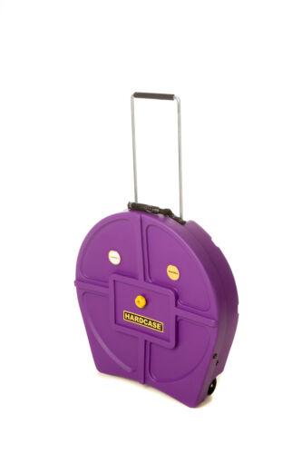 Hardcase HNP9CYM22PU With Wheels Coloured Cymbal Case Purple