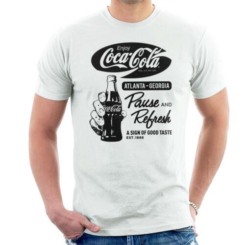 Coca Cola Retro Pause And Refresh Men/'s T-Shirt
