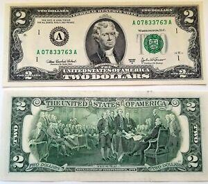 Billet Porte-Bonheur américain de 2 dollars
