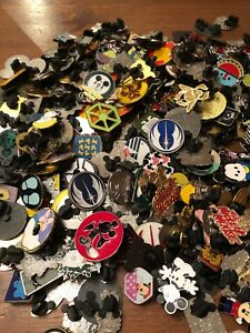 15 X Random Disney Trading Pins  & 1 Lanyard - Perfect Starter Set For Trading