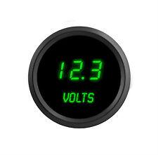 52mm 2 1/16 in Digital VOLTMETER Intellitronix GREEN LEDs! Black Bezel Warranty!