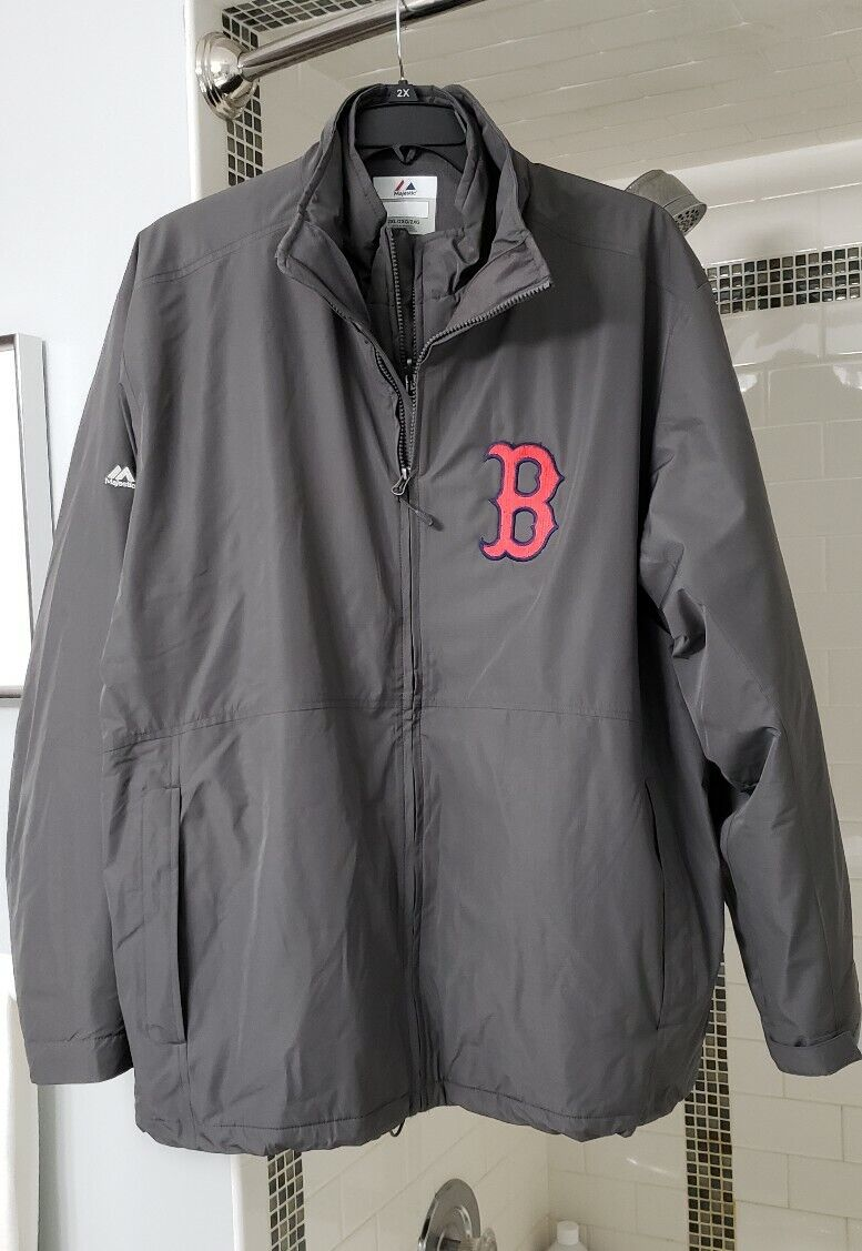 Majestic Boston rot Sox Triple Climate 3-In-1 Jacket Größe 2XL (Inner & Outer)