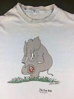 Vintage Mens M/L 1985 The Far Side Gary Larson Comic Cartoon Elephant T-Shirt