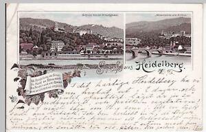 114239 Mehrbild-litho 1896 äSthetisches Aussehen Schlussverkauf Ak Gruss Aus Heidelberg