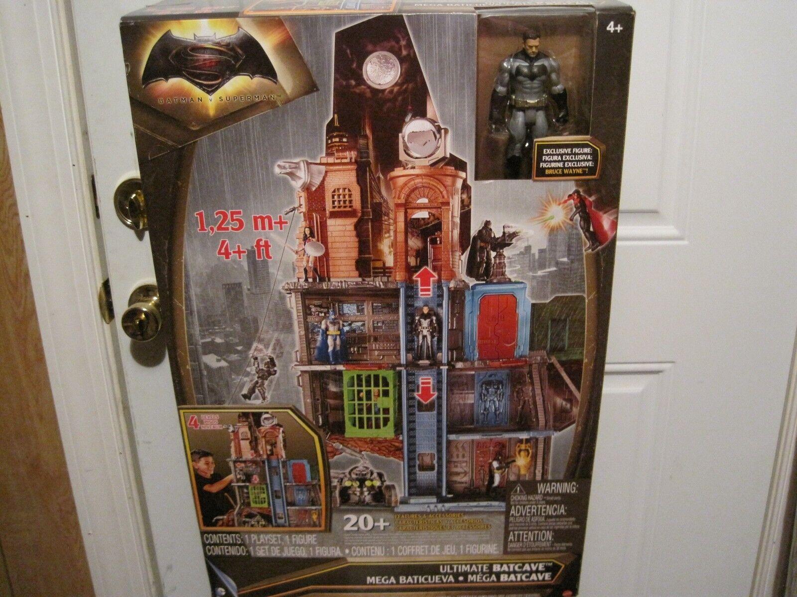 Ultimate Batman V. súperman Baticueva Conjunto de Juego 4 pies de altura los niveles de 4 -- -- nuevo En Caja