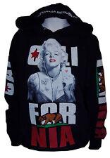 Men' Marilyn Monroe Cali Pullover Sweater Hoodie,Poker California Republic Sz M
