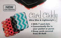 Credit Card Caddy Safe Way To Store Your Credit Cards Aluminium Case Water Proof