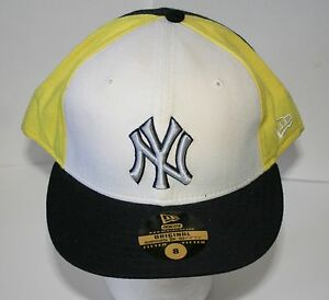 NY Yankees New York Cream Yellow Baseball Team Cap Hat New Era ... 278fa3b02ec