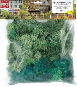 Busch-7106-Island-Moss-Large-Package-Light-Green-Dark-Green-150g-100gr