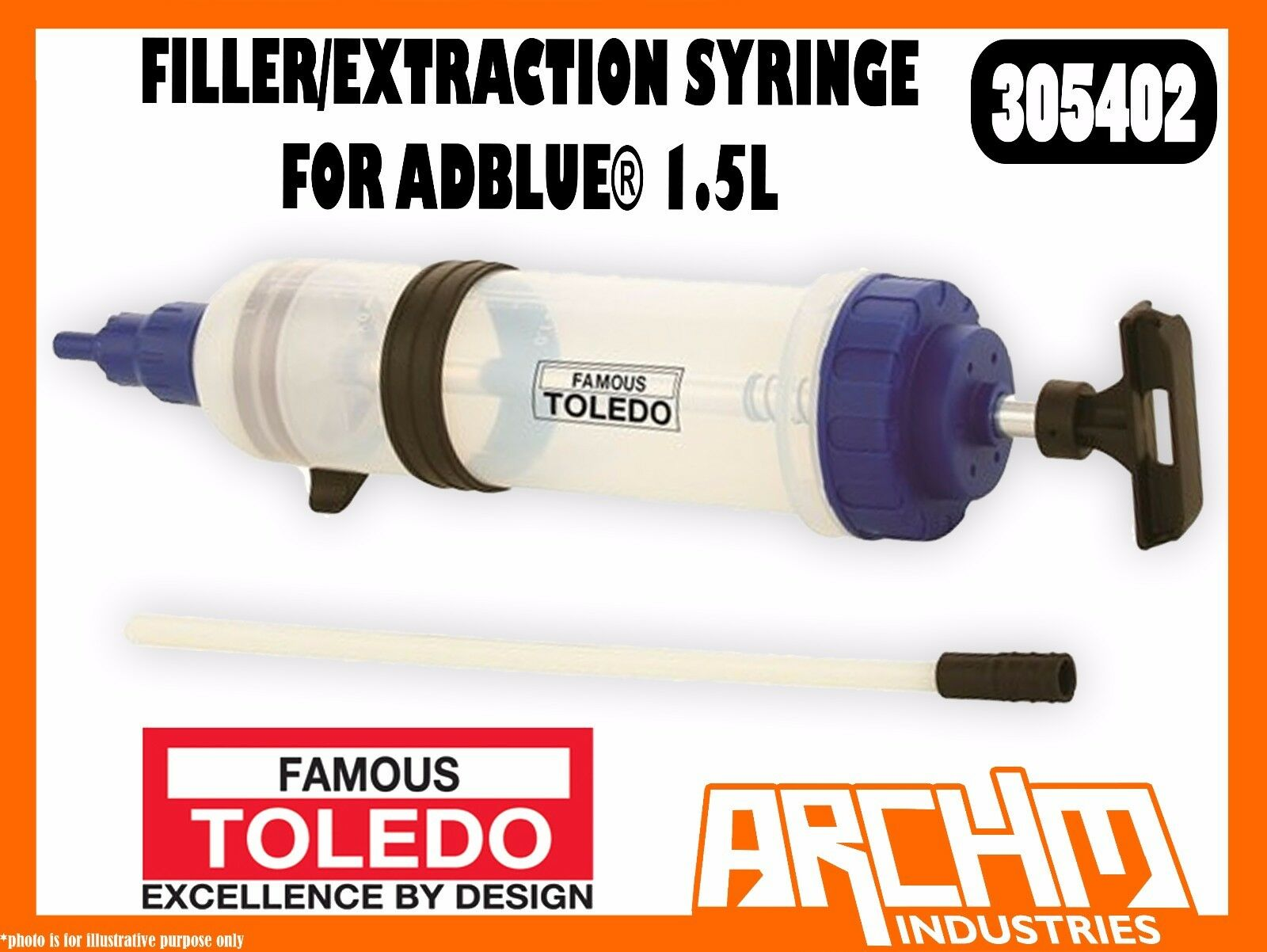 TOLEDO 305402 - FILLER EXTRACTION SYRINGE FOR ADBlau® 1.5L - FLUIDS MARKINGS