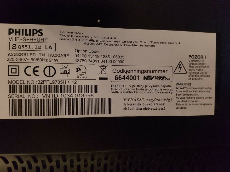LED, Philips, 32PFL9705H / 12