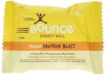Ragionevole Bounce Di Arachidi Proteine Blast Palla Da 49g (pacco Da 40)-