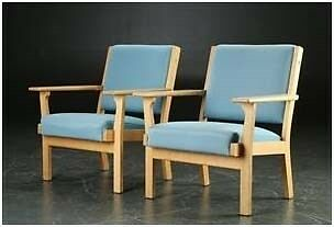 Lænestol, stof, Hans J. Wegner
