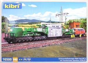 Kibri-16500-H0-MAN-Schienentiefladewagen-Uaai-687-9-NEU-amp-OvP