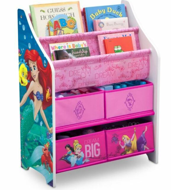 Disney Princess Girls Bookcase Toy Box Storage Organizer Children Kids Gift New