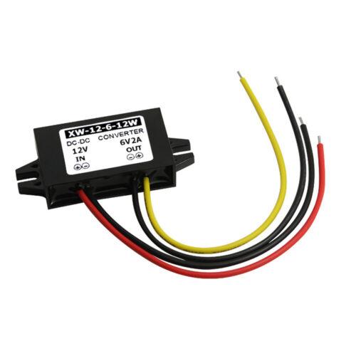 DC12V To 6V DC Buck Power Converter 2A 12W Step Down Voltage Adapter Regulator