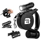 3 in 1 Dog Leash Retractable leash w/ Flashlight Waste bag Long Traction Rope