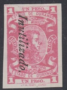 MEXICO, 1893-94. Revenue Durango Stamp Tax DU77A, Mint