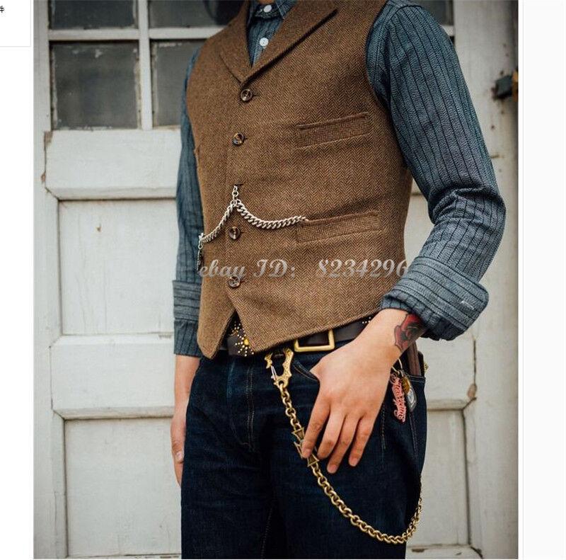 Amerikanischer Retro Klassischer Anzugs-Westen Gentlemen Männer kleidet Herren   Quality First