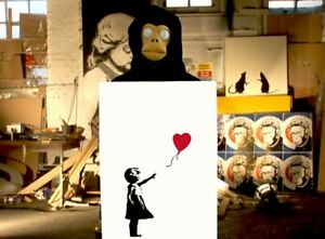 310gsm Heavyweight Museum Grade Print Banksy High Res Girl With balloon