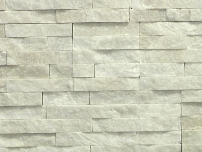 Gehemmt Befangen Verlegen Naturstein-verblender Quarzit Wandverkleidung Weiß Natursteinelemente In Z-form Unsicher Selbstbewusst