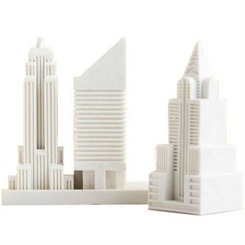 Design Ideas Eraser City New York Set of 3 buldings Color Bright White #3204001