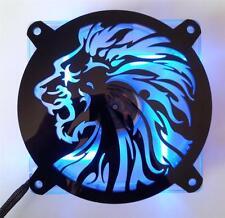 Custom 140mm LION HEAD Computer Fan Grill Gloss Black Acrylic Cooling Cover Mod