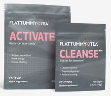 Flat Tummy Tea FT Two Detox Weight Loss Slimming Teatox 14 Day Recommended 2017