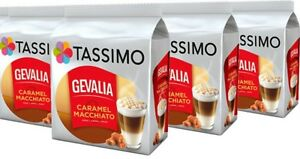 Details about 4 x Packs Tassimo Gevalia Latte Macchiato Caramel T Discs  Pods - 32 Large Drinks