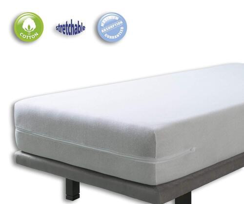 Matratzenbezug Reißverschluss Matratzenbezug 90x200CM 100/% Baumwolle WEIß.