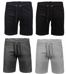 NEW-MENS-SWEAT-SHORTS-FLEECE-SUMMER-JOGGING-GYM-RUNNING-ZIP-POCKETS-PLAIN