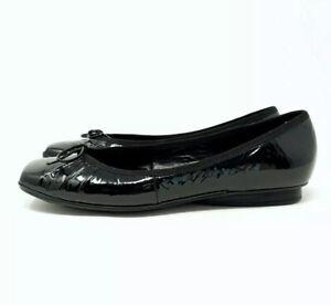Geox Respira UK 7 Black Patent Leather