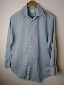 ARMANI-COLLEZIONI-Mens-Blue-Button-Down-Long-Sleeve-Shirt-Size-Large-L-41-16