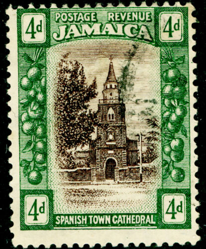JAMAICA SG84, 4d brown & deep green, FINE USED, CDS.