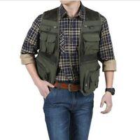 Men Waistcoat Outdoor Travel Vest Jacket Fishing Photography Field Multi Pockets