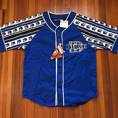 low priced 65e66 0b101 NWT DEADSTOCK Vintage 90's NCAA DUKE University Blue Devils Baseball Jersey  Sz L | eBay