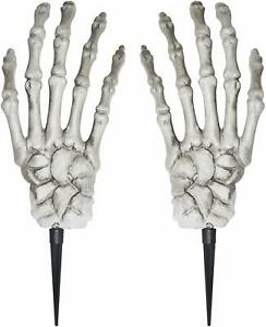 "2 Giant Grave Skeleton Hands 20"" Yard Decoration Halloween ..."