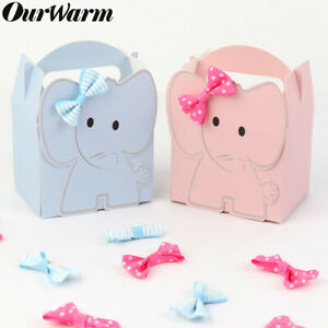 10x-Elefante-Fillable-CANDY-BOX-Baby-Shower-Battesimo-Festa-Favore-BATTESIMO