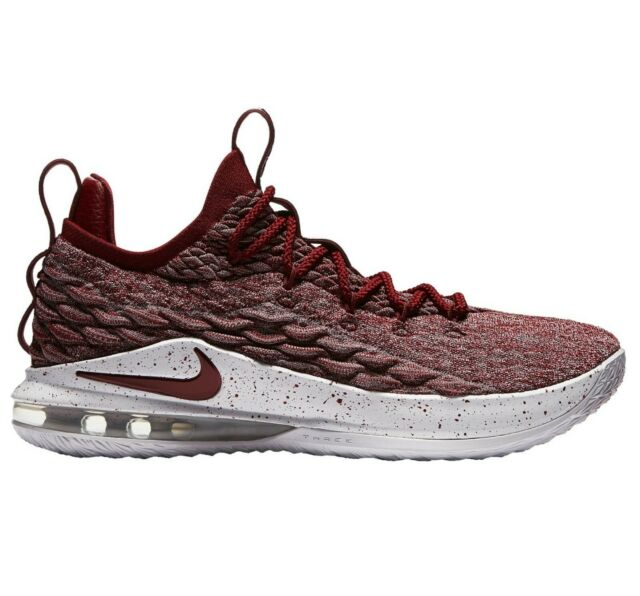fa7f8353dcd Nike Lebron XV 15 Low Mens AO1755-200 Team Red Taupe Basketball Shoes Size 8