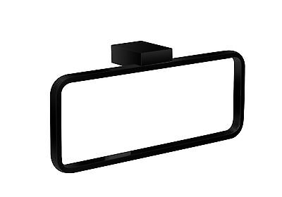 BATHROOM ACCESSORIES - HAND TOWEL RING - SQUARE DESIGN MATT BLACK MODEL LARISSA