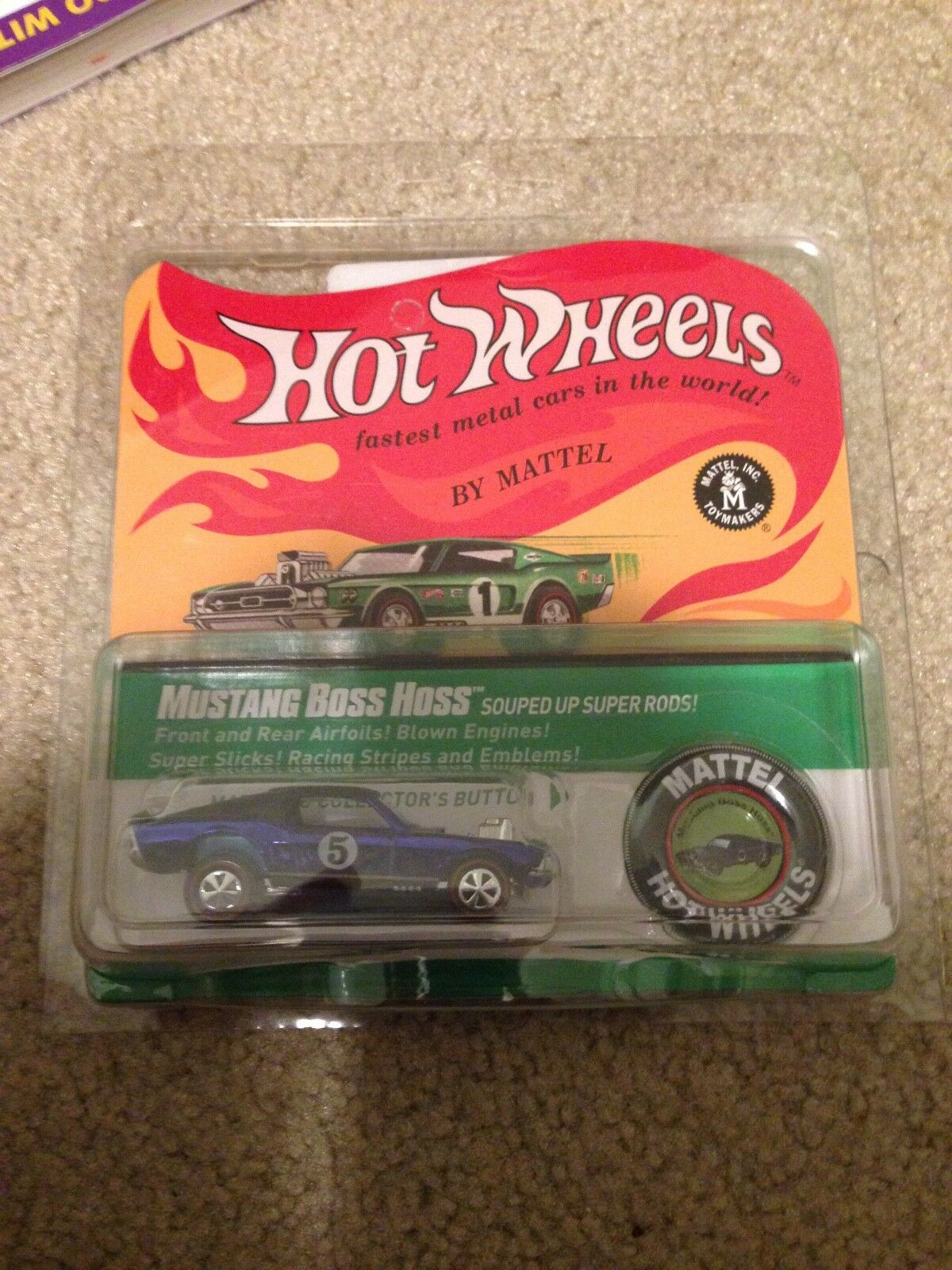 Lot de 10-HOT WHEELS RLC rougeline Club 2017 récompenses Mustang Boss Hoss