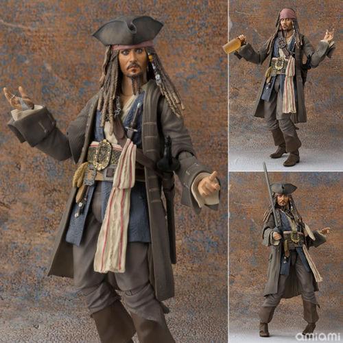 Anime S.H.Figuarts Pirates of Caribbean Captain Jack Sparrow Action PVC Figure N