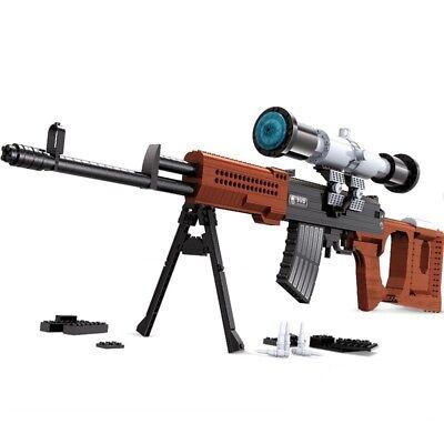 783pcs 98K Sniper Rifle Pistol Boy Military Gun Model Building Blocks Bricks Boy