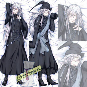 Image Is Loading Anime Black Butler Undertaker Dakimakura 50x150cm 19 6x59