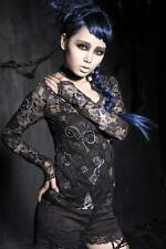 Punk Rave Gothic Victorian Steampunk Vintage Lace Butterfly Top Blouse Shirt